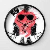 splash Wall Clocks featuring SPLASH by Ali GULEC