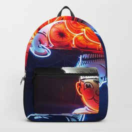 Neon Donut Sign Backpack