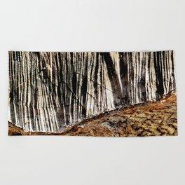 tree bark and wood Beach Towel