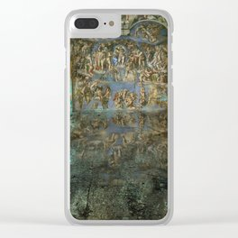 Apocalyptic Vision of the Sistine Chapel Rome 2020 Clear iPhone Case