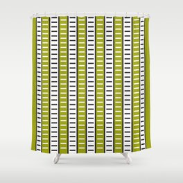 Stripes Pattern 203 (green stripes) Shower Curtain