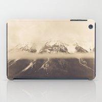 nan lawson iPad Cases featuring mt. lawson, kananaskis country, alberta by wild strawberry