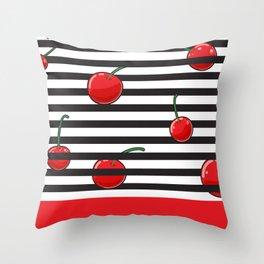Cherry season Throw Pillow