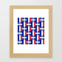 Mix of flag: France and Quebec Framed Art Print