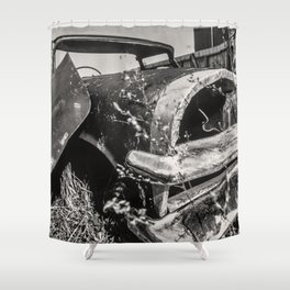 Dead cars series - in black and white #1 Shower Curtain