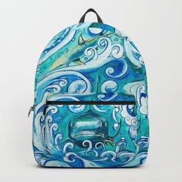 Shark wave Backpack