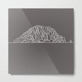 Morro Rock Line Drawing Metal Print
