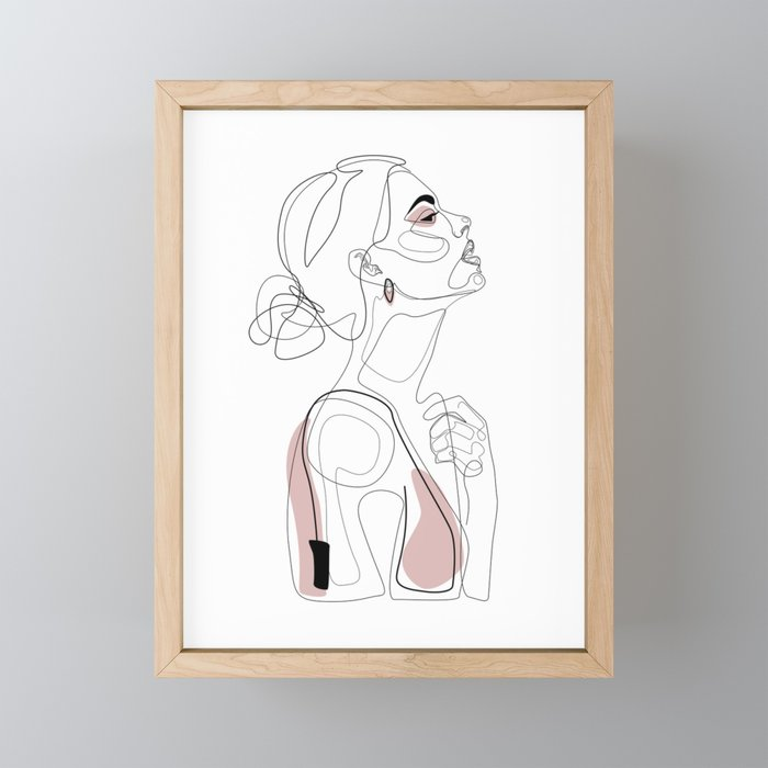 Blush Beauty Framed Mini Art Print