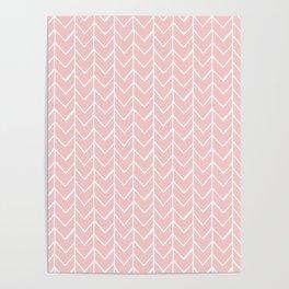 Herringbone Pink Poster