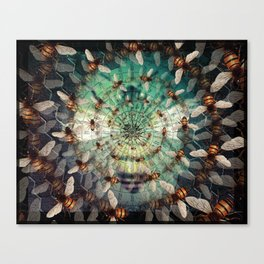 Bees: Masters of Time and Space Canvas Print