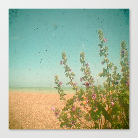Flowers by the Sea Canvas Print