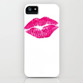 Hot Pink Lips iPhone Case