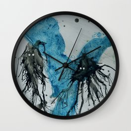 Ink monster- pair Wall Clock