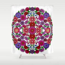 MauindiArts Bouquet Mandala Print Shower Curtain