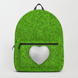 Golf ball heart / 3D render of heart shaped golf ball Backpack