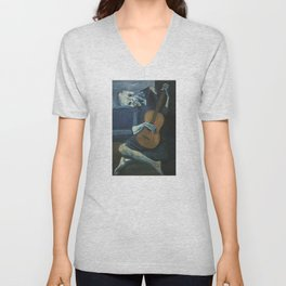 Pablo Picasso - The Old Guitarist Unisex V-Neck
