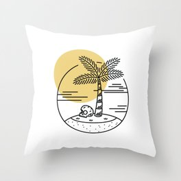 Spring Break Island - Day Throw Pillow