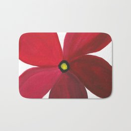 Poppy Floral Print - Original Art - Flower Print Bath Mat