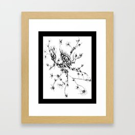 eyes in nature Framed Art Print