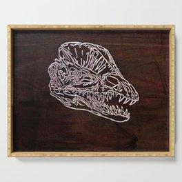 Dilophosaurus Skull Serving Tray