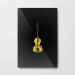 Gold Viola Metal Print