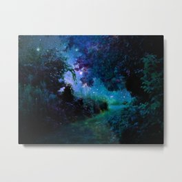 Fantasy Garden Path Midnight Metal Print