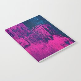Early Bird: A vibrant minimal abstract piece in blues and pink by Alyssa Hamilton Art Notebook