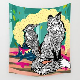 Fox in the Forest Wall Tapestry