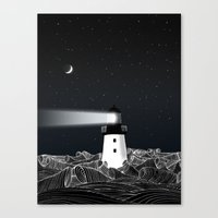 lighthouse Canvas Prints featuring Lighthouse by Florent Bodart / Speakerine