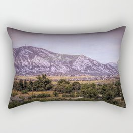 Mountains overlooking Colorado Springs, Colorado Rectangular Pillow