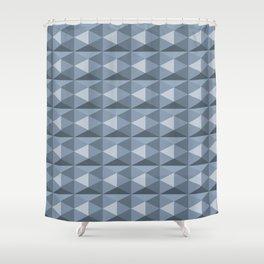 Pale blue diamond cubes Shower Curtain