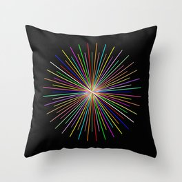 Strands Of Light 2 - Abstract, Spectral Pattern Throw Pillow