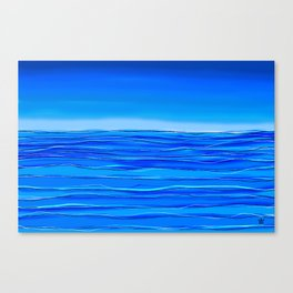 Always sea in the background ... Canvas Print