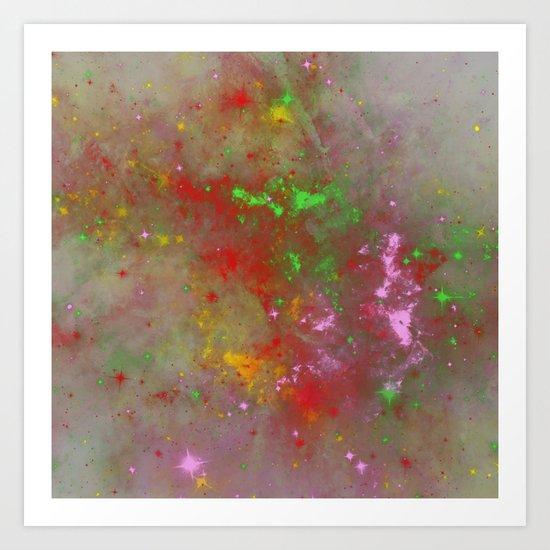 When Galaxies Meet Art Print
