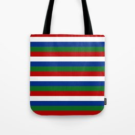 gambia flag stripes Tote Bag