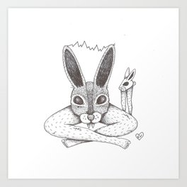Fluffy Bunny- Shock Therapy Art Print