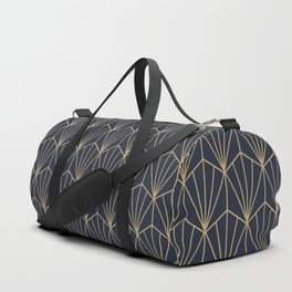 Art Deco Vector in Blue and Gold Duffle Bag