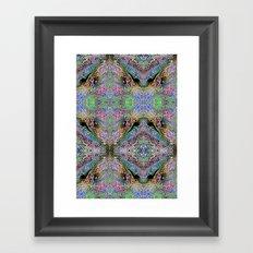 Neon Pinstripes 3 A Framed Art Print