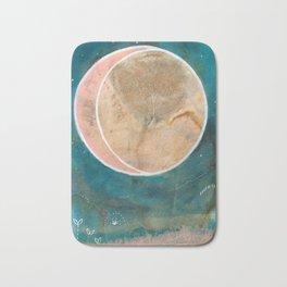 Pink Eco Print Moon Bath Mat