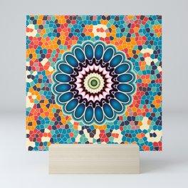 Colorful digital flower Mini Art Print