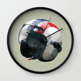Tag Heuer Steve McQueen Cafe Racer Helmet Polygon Art Wall Clock