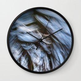 Painted waves Wall Clock