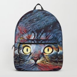 Contemplative Cat Backpack