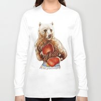 foo fighters Long Sleeve T-shirts featuring Bear Fighters. by beart24