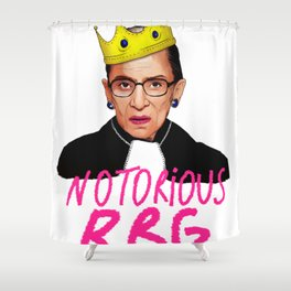 ruth bader ginsburg notorious rbg justice supreme court usa scotus Shower Curtain