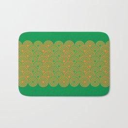 op art pattern retro circles in green and orange Bath Mat