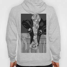 Gray Patchwork Cow Hoody