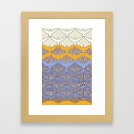 BIRDWAVE  yellow Framed Art Print