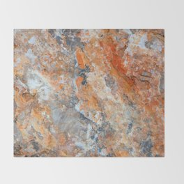 Rusty Rock Textures 47 Throw Blanket