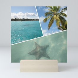 Caribbean Photo Collage - Isla Saona Mini Art Print